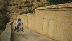 Stock Video Footage of Monastery of St. George in Israel.