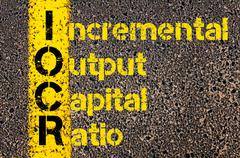Business Acronym IOCR as Incremental Output Capital Ratio - stock photo