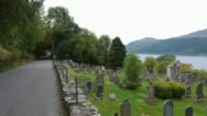 Stock Video Footage of Loch Ness Cemetery