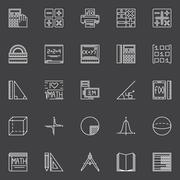Mathematics icons set Piirros
