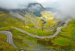 Transfagarasan mountain road, Romanian Carpathians Stock Photos