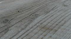 Slide shot over wodden ground Stock Footage