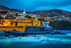 View of old castle Fortaleza de Sao Tiago. Funchal, Madeira, Portugal - stock photo