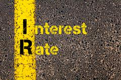 Business Acronym IR as Interest Rate - stock photo