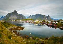 Reine fishing village.  Lofoten Islands, Norway Stock Photos