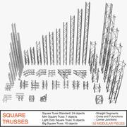 Square Trusses 001 - 3D model