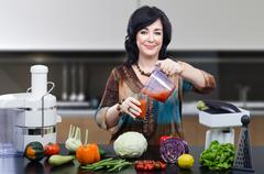 Nutrition consultant blended smoothie - stock photo