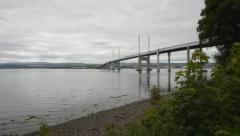 Stock Video Footage of Kessock Bridge