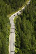 Alpine Mountain Road Stock Photos