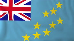Flag of Tuvalu waving in the wind, seemless loop animation - stock footage