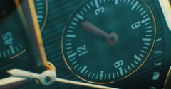 Luxury man watch detail, chronograph close up Stock Footage