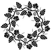 vector decoration of grape vine - stock illustration
