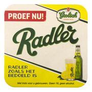 Grolsch beer mat with advertising for Radler beer. Stock Photos