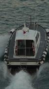 Rome Italy Civitavecchia Port pilot boat vertical HD 049 Stock Footage