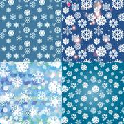 Stock Illustration of Snowflake Pattern. Seamless vector texture. Christmas and new year concept