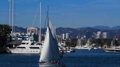 Boats in Marina del Rey (4K) Stock Footage