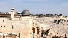Al Aqsa Mosque  and Mount of Olives video , the third holiest site in Islam. - stock footage