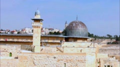 Al Aqsa Mosque  and Mount of Olives   video - stock footage