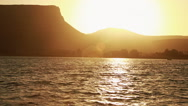 Stock Video Footage of Sunset on a Sea of Galilee.