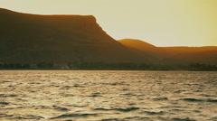 Sunset on a Sea of Galilee 3 - stock footage