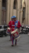 Siena Italy historic costume parade drummers Storico vertical HD Stock Footage