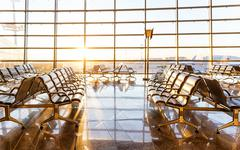 Stock Photo of Empty departure lounge at the airport