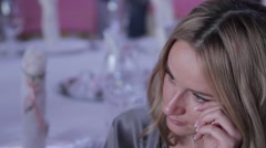 Woman is crying at the wedding ceremony. Stock Footage