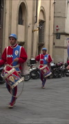 Siena Italy Corteo costume parade drummers vertical HD Stock Footage