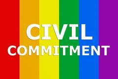 Civil Commitment concept - stock illustration