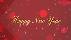Loop-ready red New Year background Stock Footage
