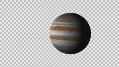 Planet Jupiter Zoom in Alpha channel Stock Footage