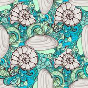 Beautiful seashell pattern for your design Stock Illustration