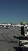 Salt Lake City Utah airport aircraft ramp vertical HD Stock Footage