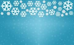 Stock Photo of Snowflakes on winter background with copyspace