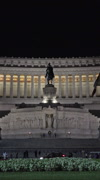 Rome Italy Vittorio Emanuele II at night vertical HD 053 Stock Footage