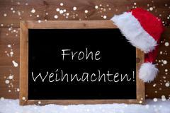 Card, Chalkboard, Frohe Weihnachten Mean Merry Christmas, Snow Kuvituskuvat