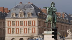 Louis XIV statue at Château de Versailles close up Stock Footage