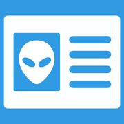 Alien Account Card Flat Icon Piirros