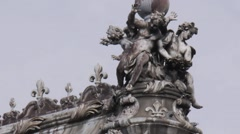 Cherubs Statue Stock Footage