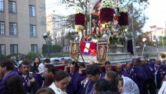 Procession Lord of the Miracles, Señor de Los Milagros, DC Stock Footage