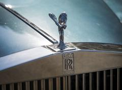 The Spirit of Ecstasy on a Rolls-Royce Car - stock photo