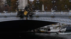 Pont Alexandre III Close Up Stock Footage