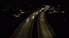 Essinge leden traffic time-lapse Stock Footage