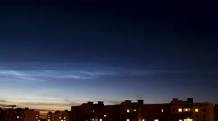 Silvery clouds (Noctilucent Clouds) Stock Footage