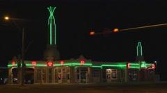 U Drop Inn, Shamrock, Texas Stock Footage