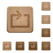 Media loop wooden buttons Stock Illustration