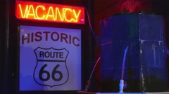 Route 66 Hotel Vacancy Sign Stock Footage