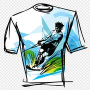 Sport tee - stock illustration