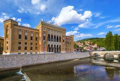 Stock Photo of National library in Sarajevo - Bosnia and Herzegovina