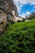 Renaissance Castle in the Rock, Predjama, Slovenia - stock photo